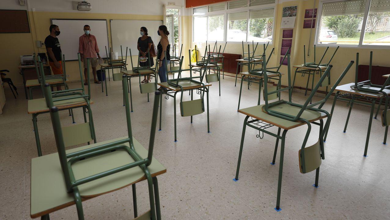 En colegios como el Vista Alegre, en imagen, ultiman los detalles para un inicio de curso seguro