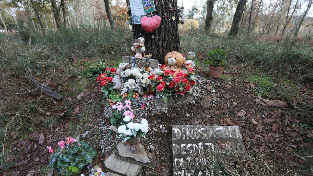 Así estaba este sábado el lugar en el que apareció muerta Asunta Basterra Porto el 22 de septiembre del 2013