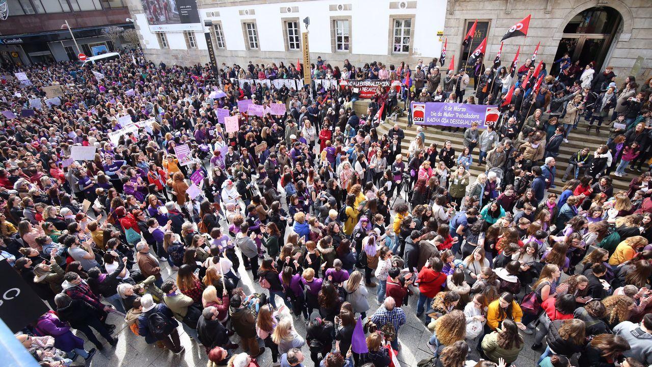 Manifestación por el 8M en Vigo