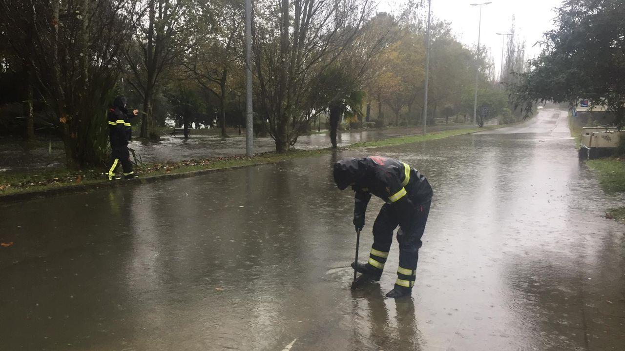 Inundaciones por una tromba de agua en Ferrol