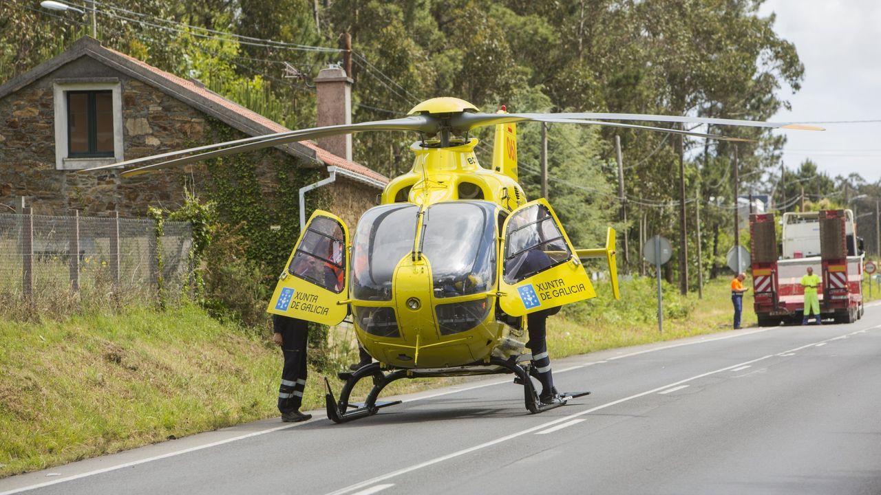 Helicóptero medicalizado. Imagen de archivo