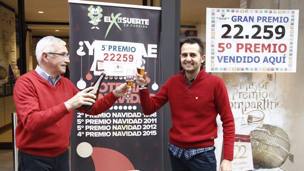 En O Porriñó se vendió uno de los quintos premios