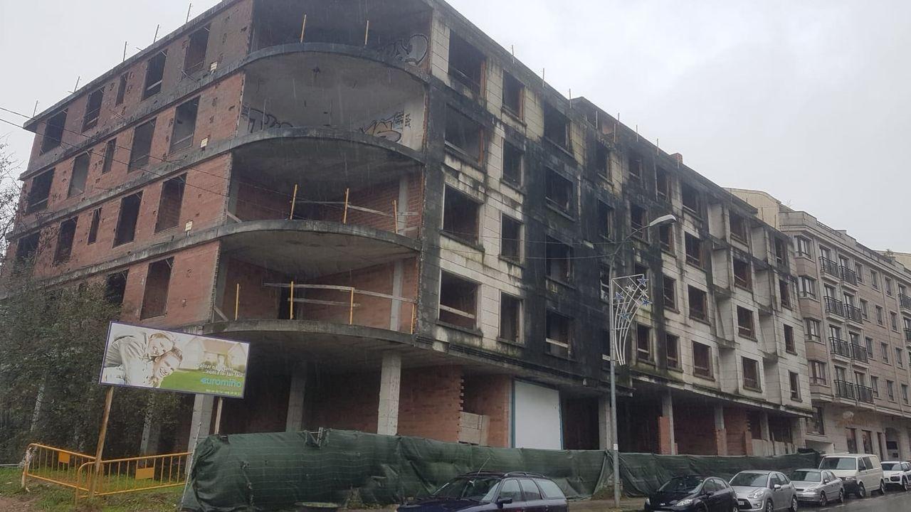 Edificio abandonado en Salvaterra de Miño