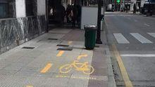 Así es el nuevo carril bici de Oviedo