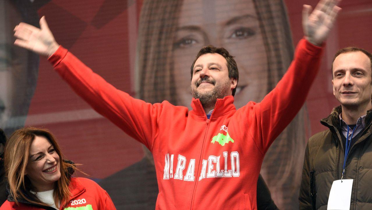 Salvini lleva semanas de campaña en la región Emilia Romaña