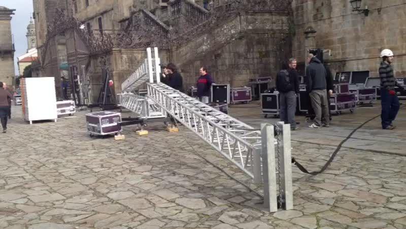 Preparación de la Catedral para el funeral