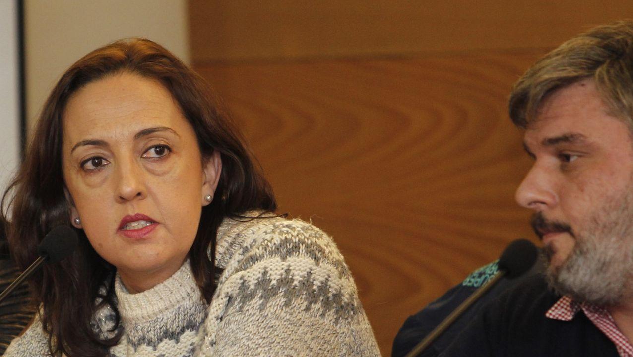 A final del 2017, Dolores Pérez, presidenta que dimite, coincidió, como secretaria del CCH, en un acto con quien la critica, Ánxel Vázquez, en aquel momento presidente de la federación mariñana de comercio