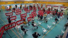 Vacunación en el polideportivo Germans Escalas de Palma de Mallorca