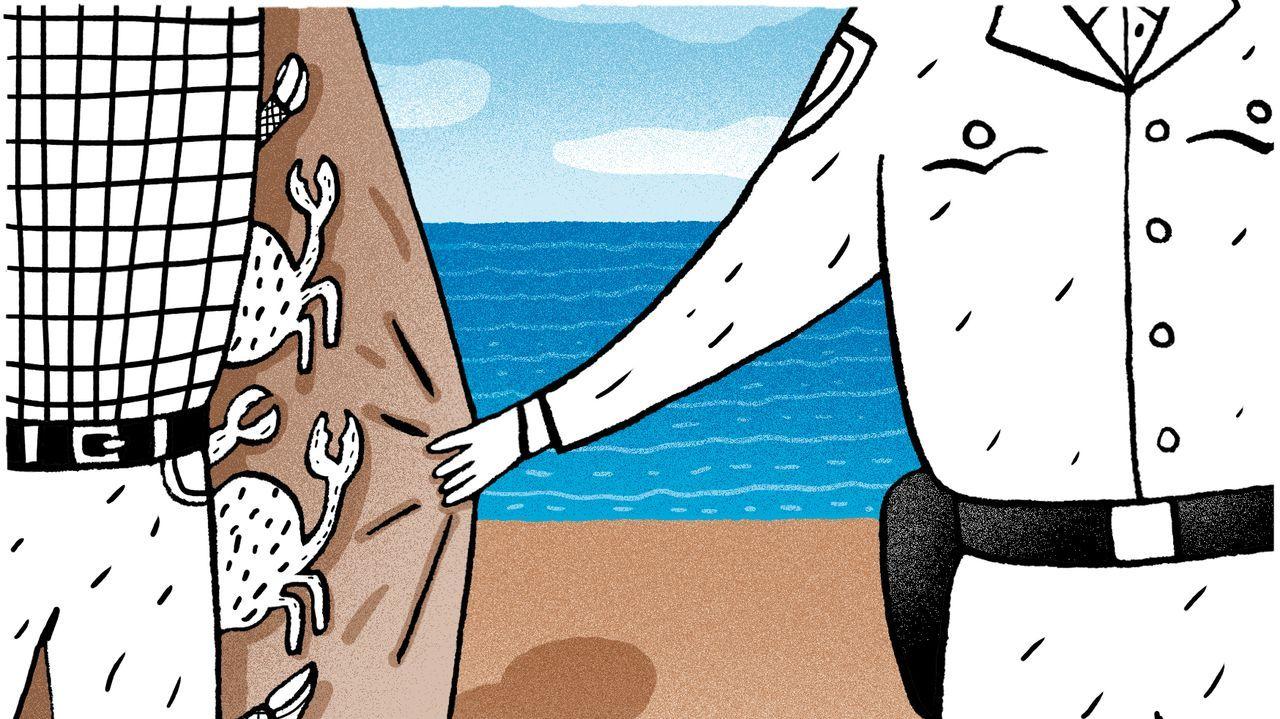 Decomisados 20 kilos de percebe a dos furtivos habituales que operaban en la zona de O Portiño.El texto sustituiría a las ley de pesca 7/1992