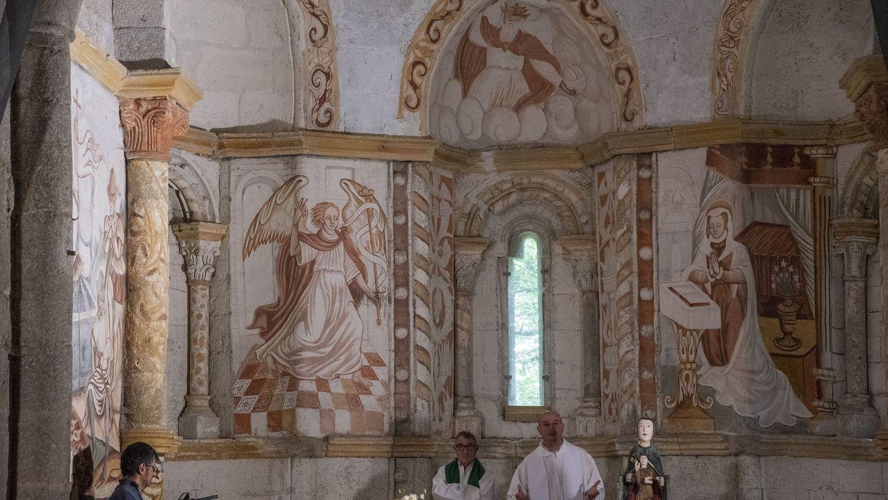 Las pinturas renacentistas del ábside fueron cuidadosamente restauradas hace una década