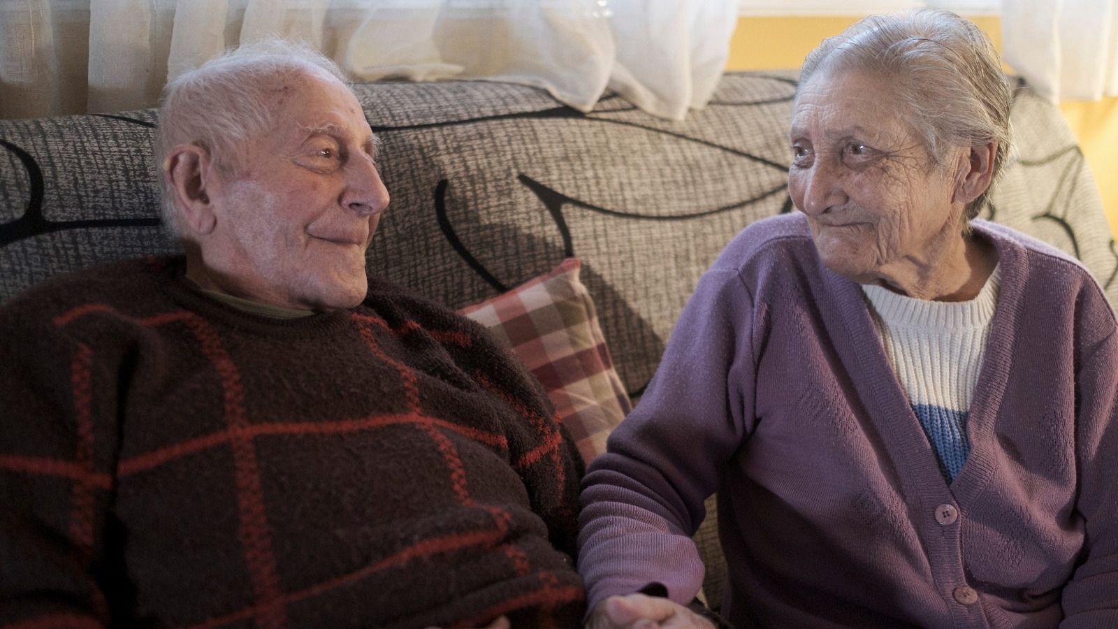 El matrimonio formado por Serafín García y Maximina Salgado es uno de los más longevos de Asturias