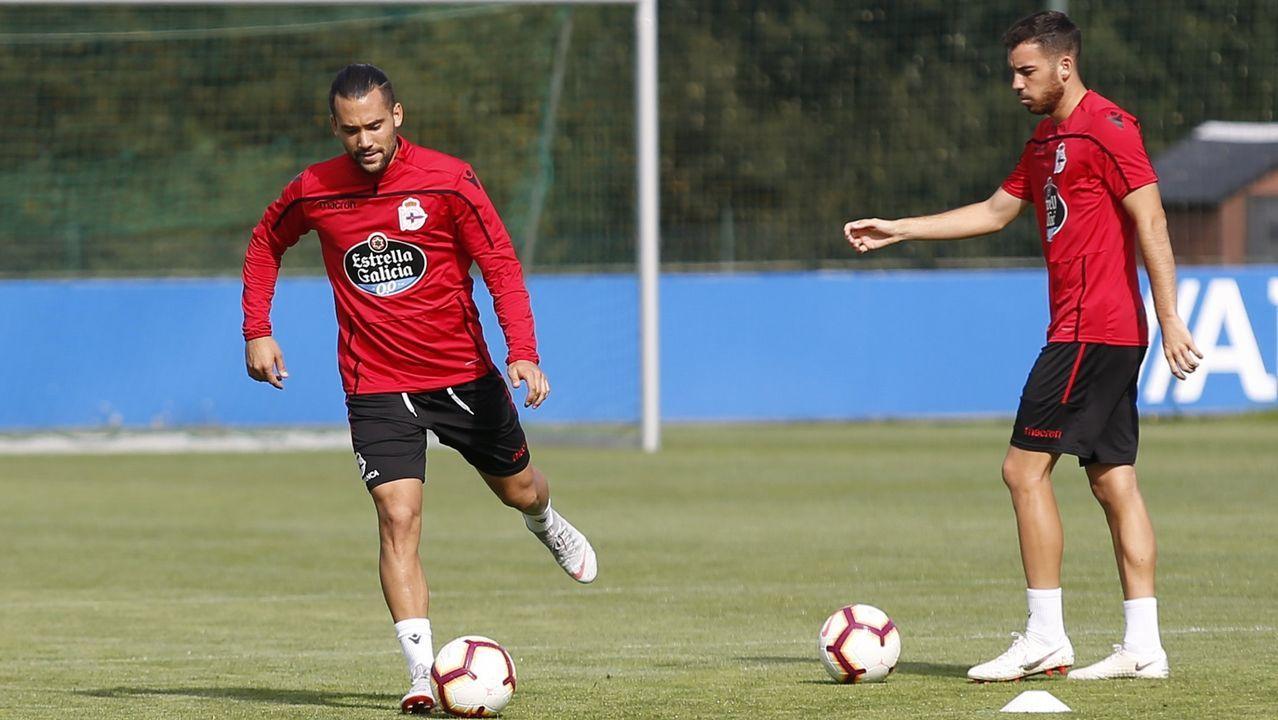 Quique y Edu Expósito, junto a Carlos Fernández, lideran las expectativas del Deportivo