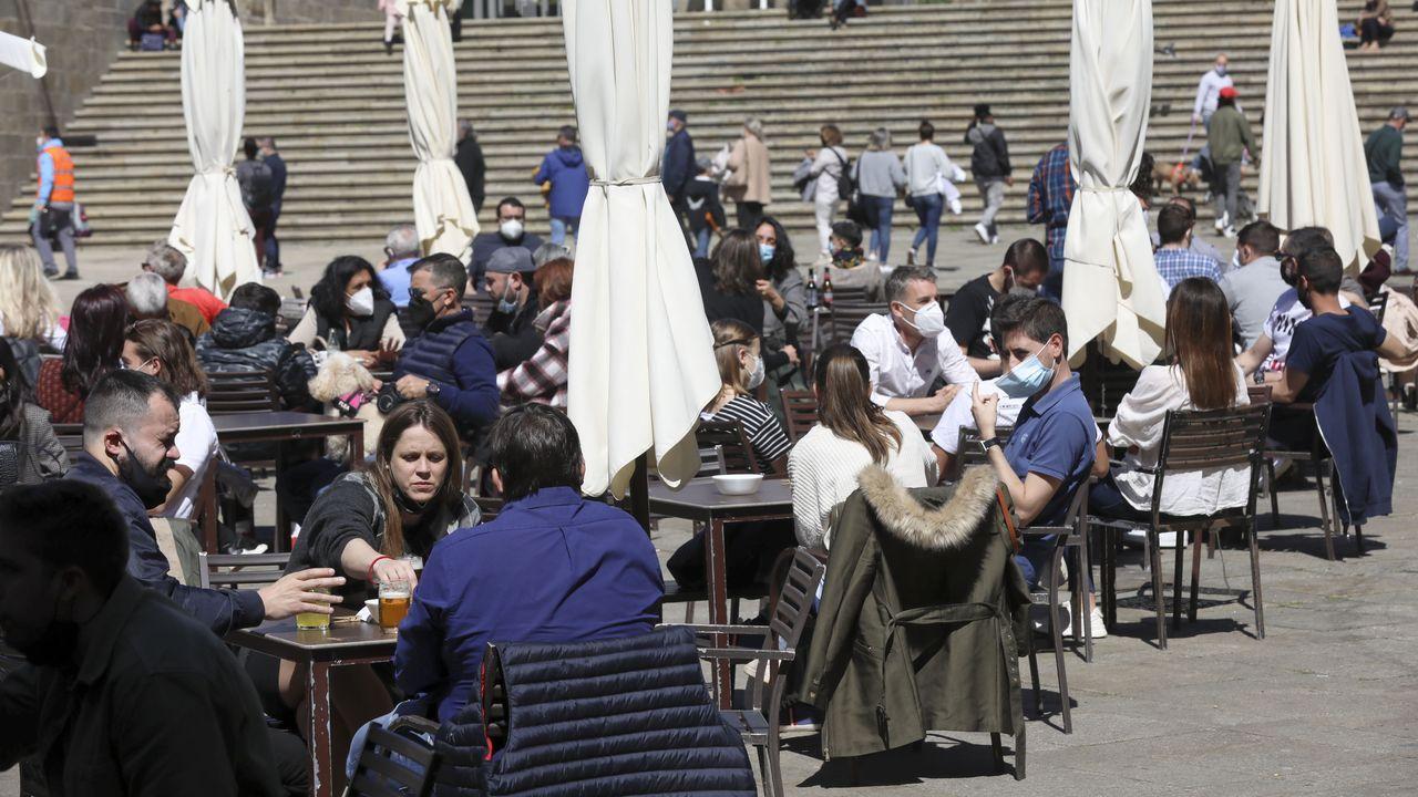 Reinauguración del Monte do Gozo.La calle Claro Campoamor de Santiago es una de las que el Concello ha reducido su velocidad máxima permitida antes de que lo exigiese la DGT