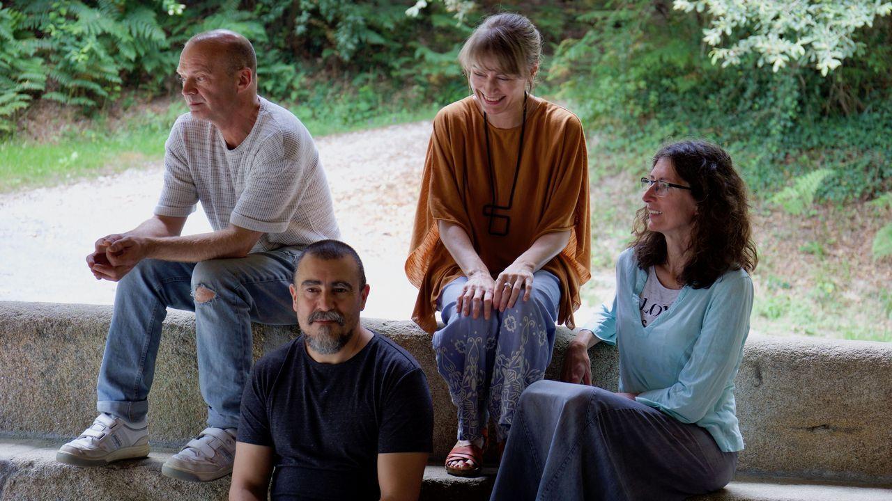 Manseliña son Tin Novio, Pablo Carpintero, Belén Bermejo e María Giménez (de esquerda a dereita)
