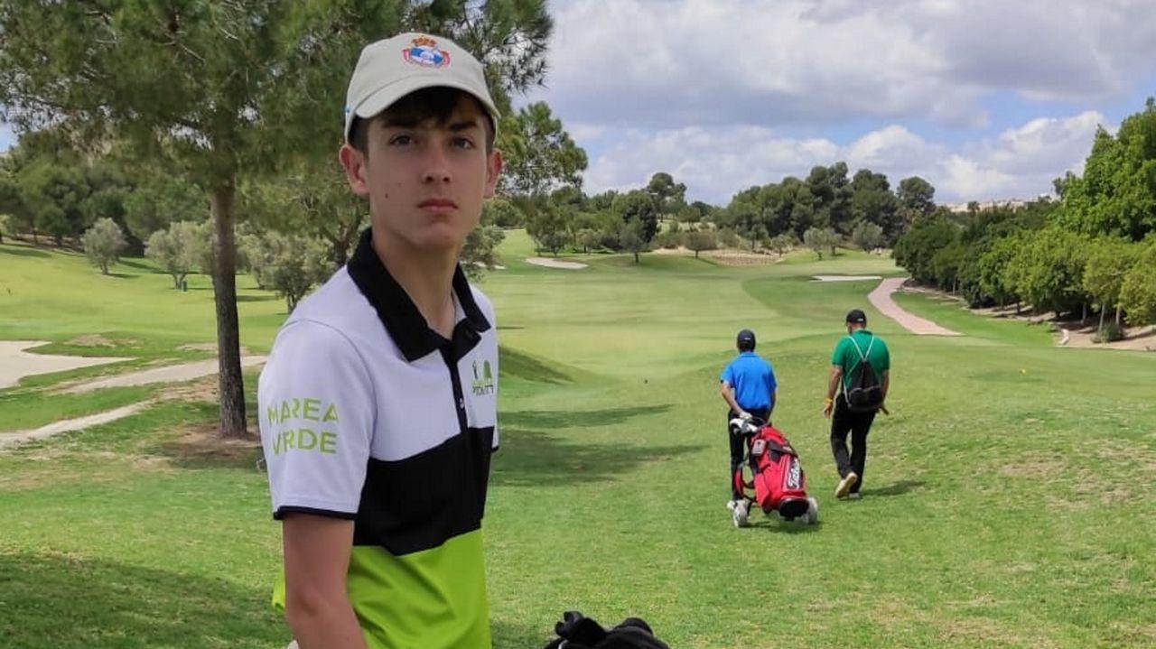 Daniel Varela, en el campeonato de España