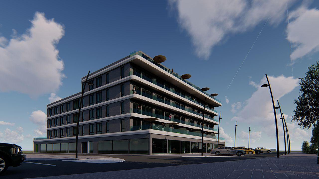 Recreación virtual del edificio, con 30 apartamentos de dos y tres habitaciones