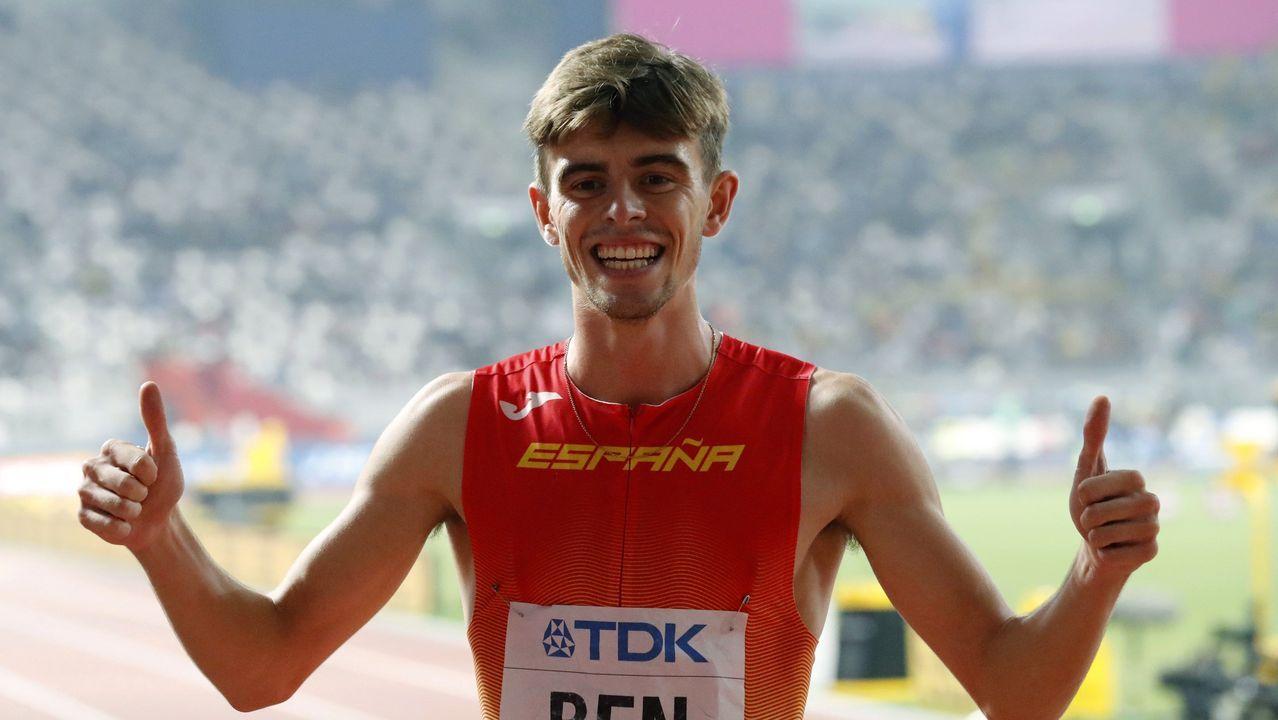El gallego Adrián Ben, el sexto hombre más rápido en 800 metros