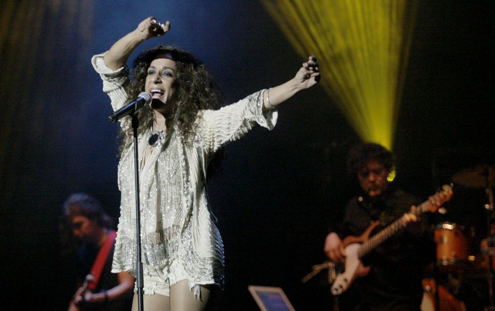 Rosario Flores, en una actuación en Ferrol durante el 2012.