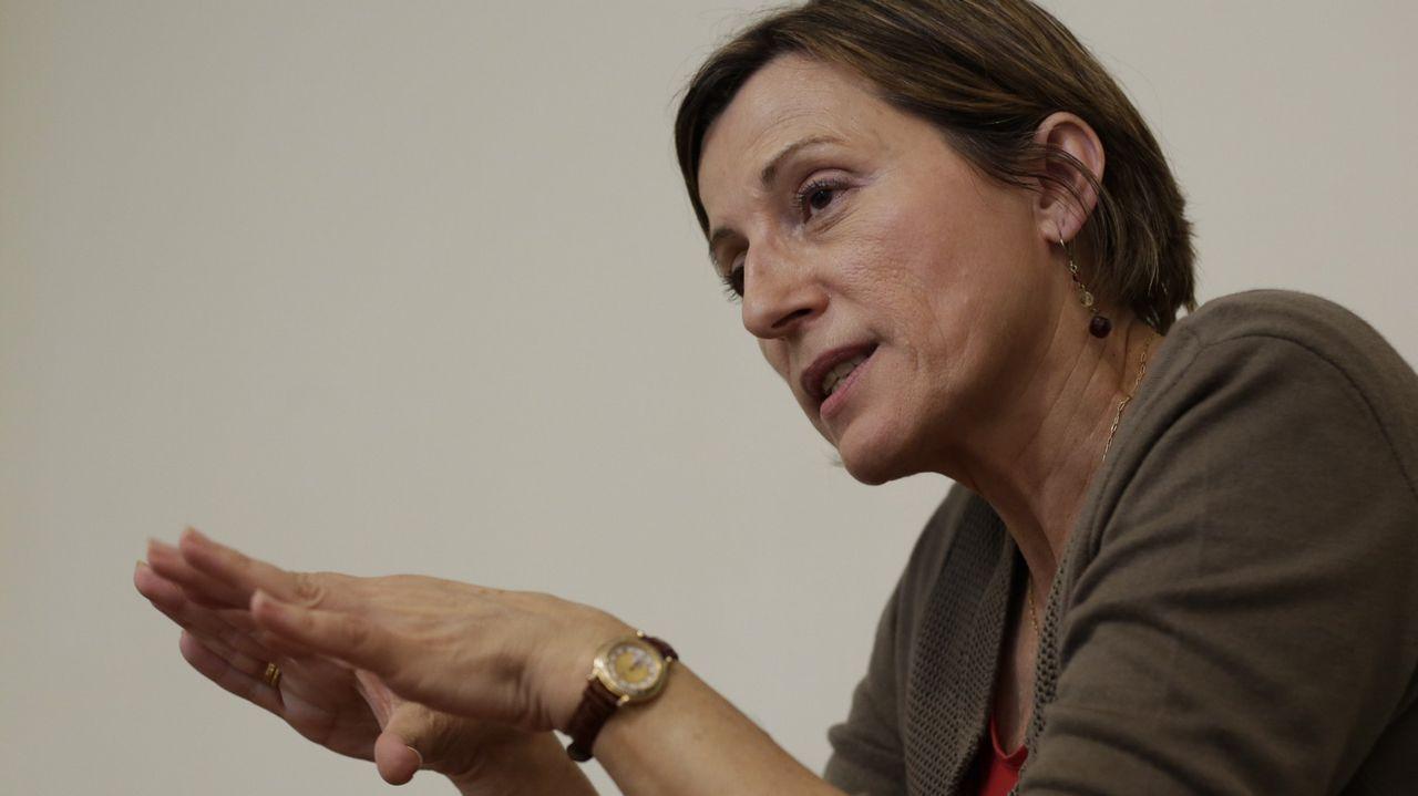 Carme Forcadell. La ex presidenta del Parlamento de Cataluña está acusada de un delito de rebelión
