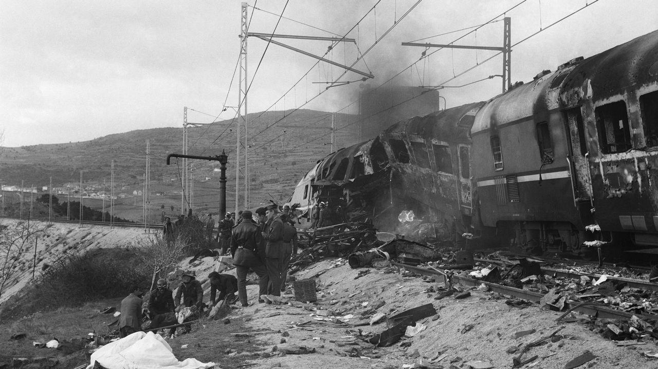 Estado en el que quedaron los vagones delanteros, donde iba Jose María y donde hubo más víctimas mortales