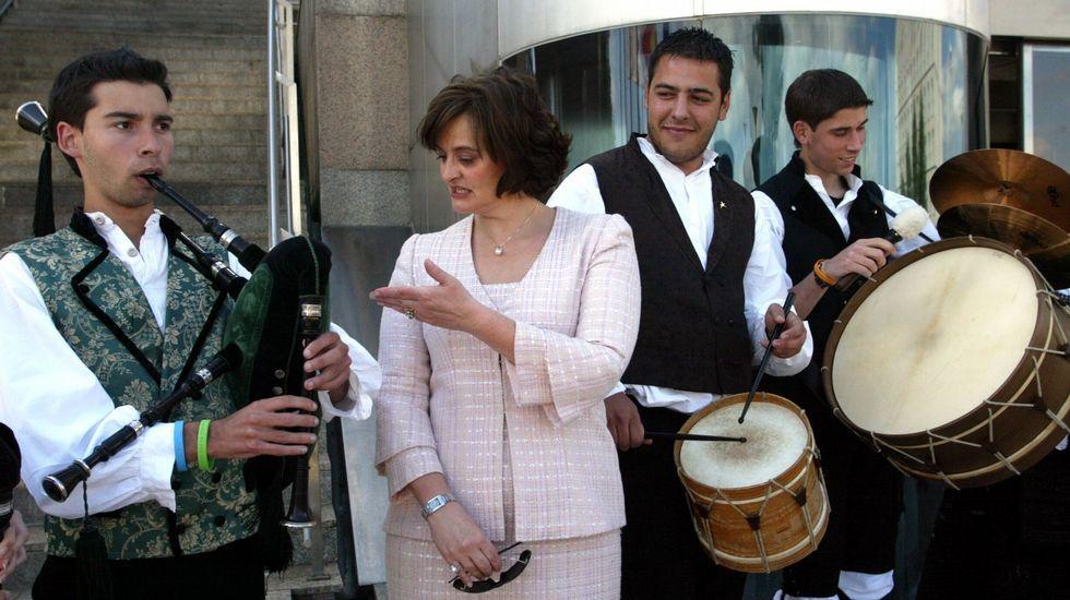 Cherie Blair durante una visita en Santiago en el año 2005