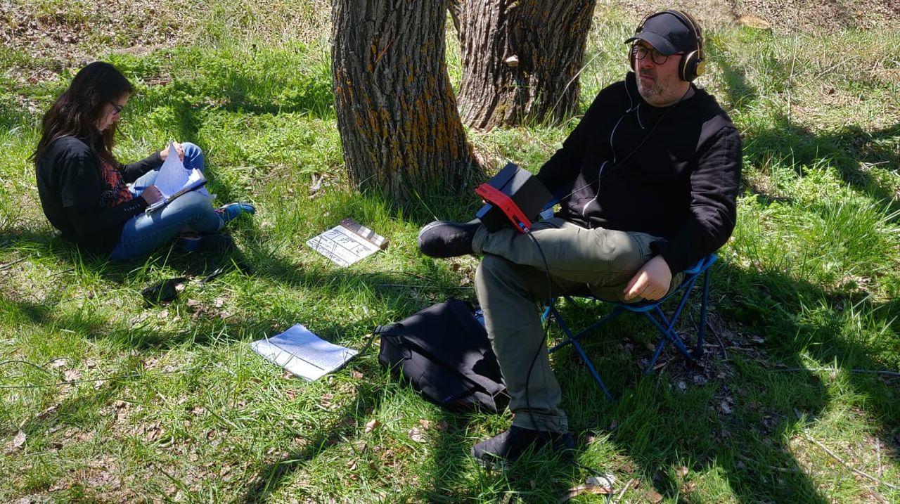 El realizador Rubén Buren, durante el rodaje de su primer filme, «Maquis»