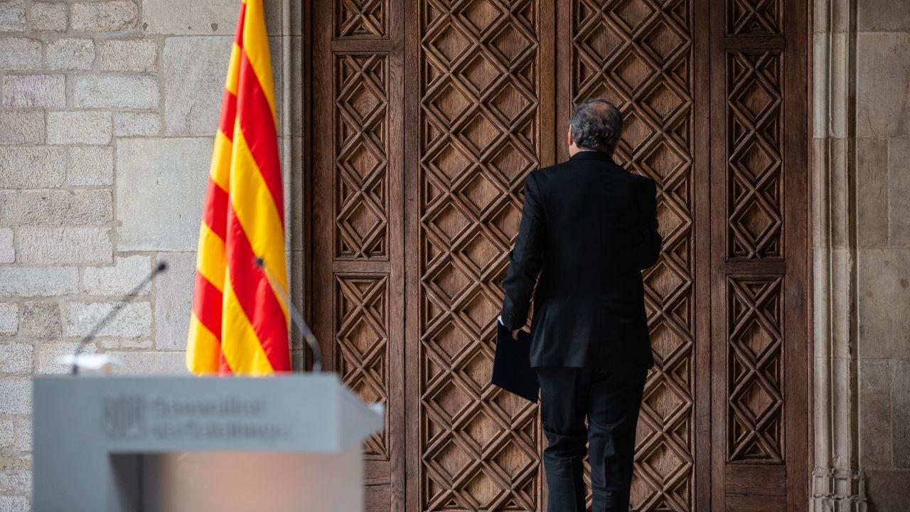 Nueva polémica con el catalán.Torra opta por una voladura controlada de la legislatura y explorará el diálogo con Sánchez