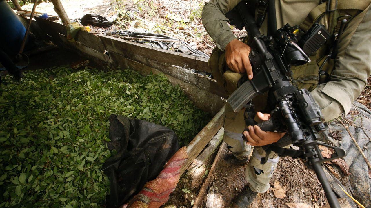 Fotografía de archivo de un operativo contra un laboratorio de procesamiento de coca en Nariño (Colombia)