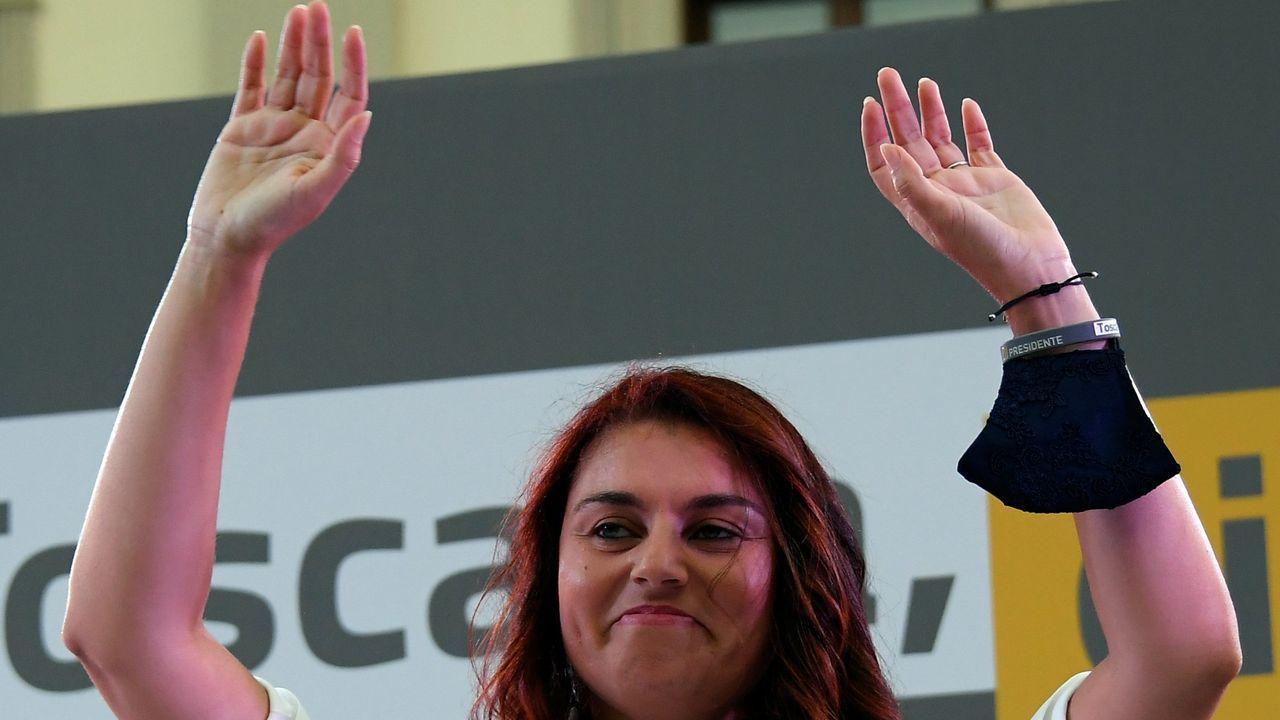 Susanna Ceccardi, candidata de la Liga en la Toscana