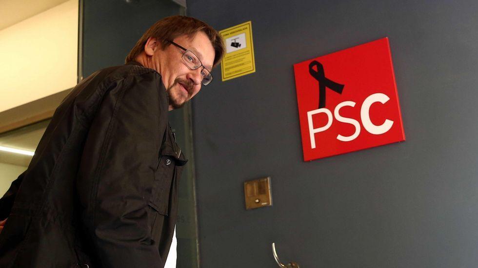 El líder de En Comú Podem, Xavier Domenech.