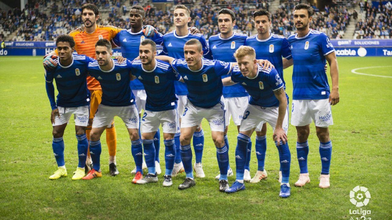 Omar Ramos Real Oviedo Almeria Carlos Tartiere.Alineación del Oviedo ante el Reus