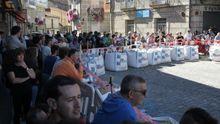 Aficionados siguen uno de los tramos del Ralli Ribeira Sacra