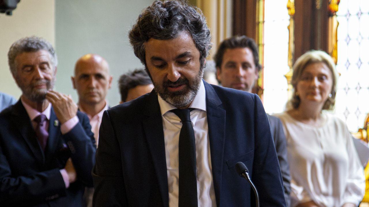 Alejandro Calvo, consejero de Desarrollo Rural, Agroganadería y Pesca en la Investidura