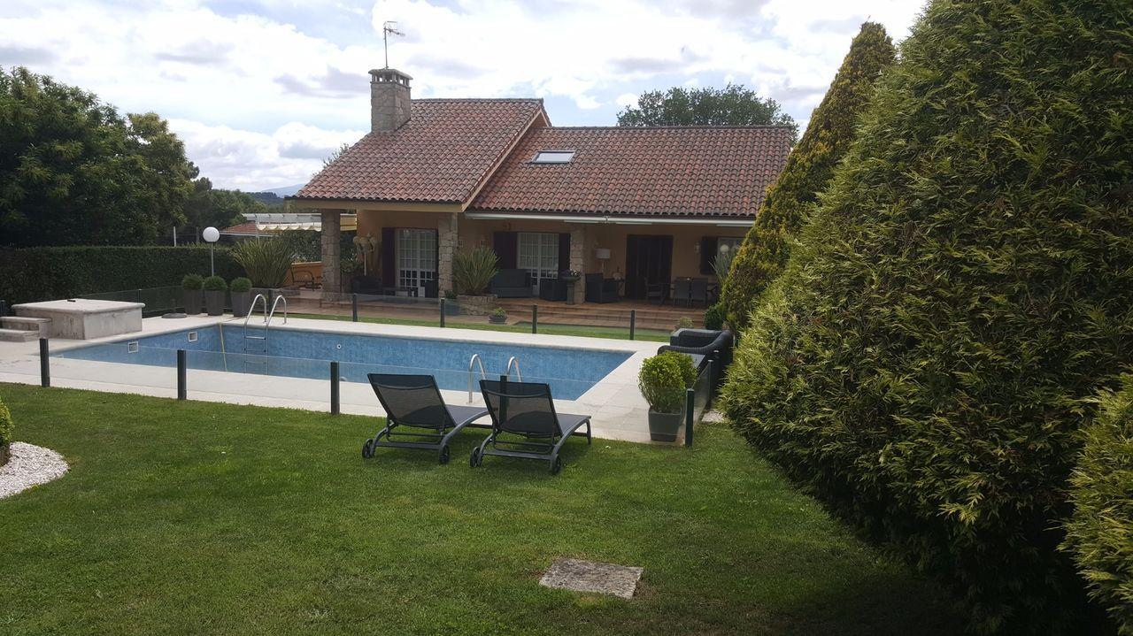 Cinco casas con piscina y jardín en Ourense.Los trece Roland Garros de Rafa Nadal