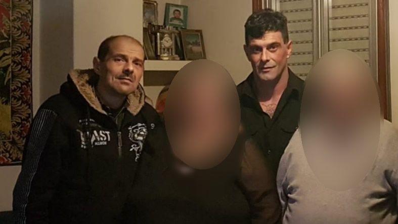 David Pérez Aneiros, a la izquierda, y Pablo Pérez Aneiros, en el centro, son los dos hermanos fallecidos este fin de semana