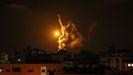 Imagen de los misiles lanzados por Israel en Gaza esta madrugada