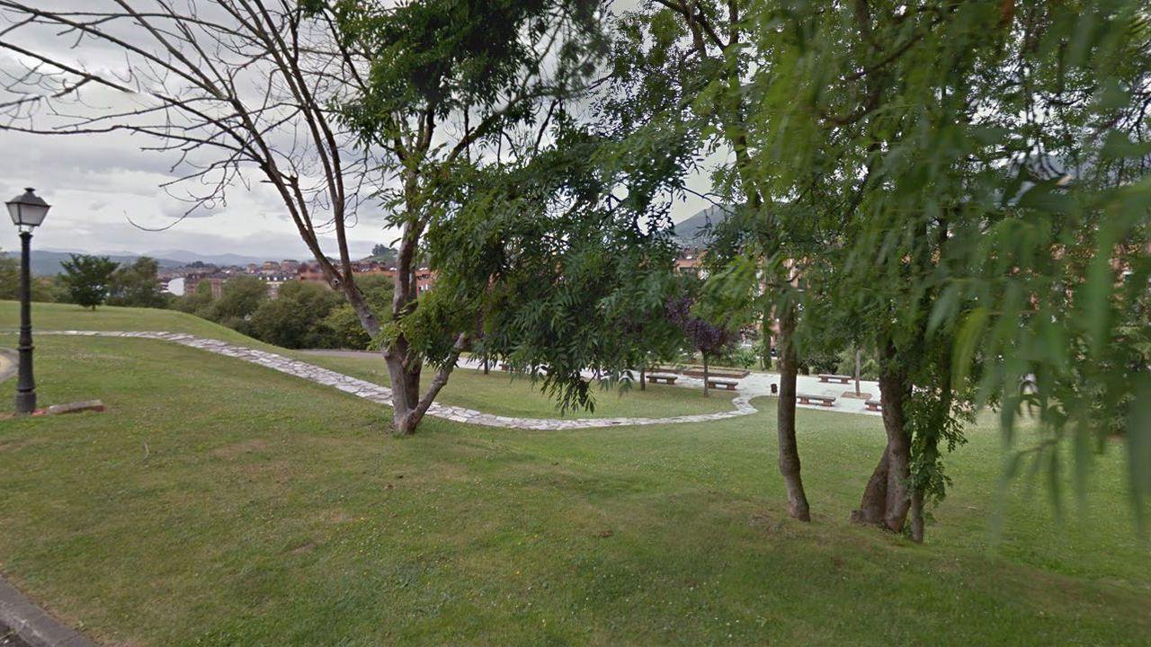 Mosquera juega «su» Champions en el altar.Parque del Oeste de Oviedo