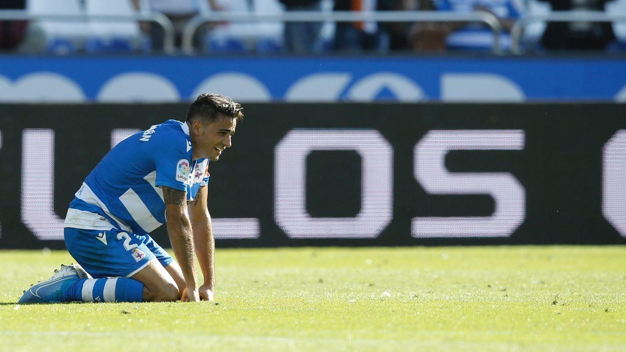 Afición del Oviedo en el Wanda Metropolitano