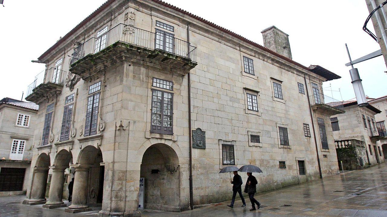 Edificio García Flórez, que forma parte de la manzana del Museo de Pontevedra