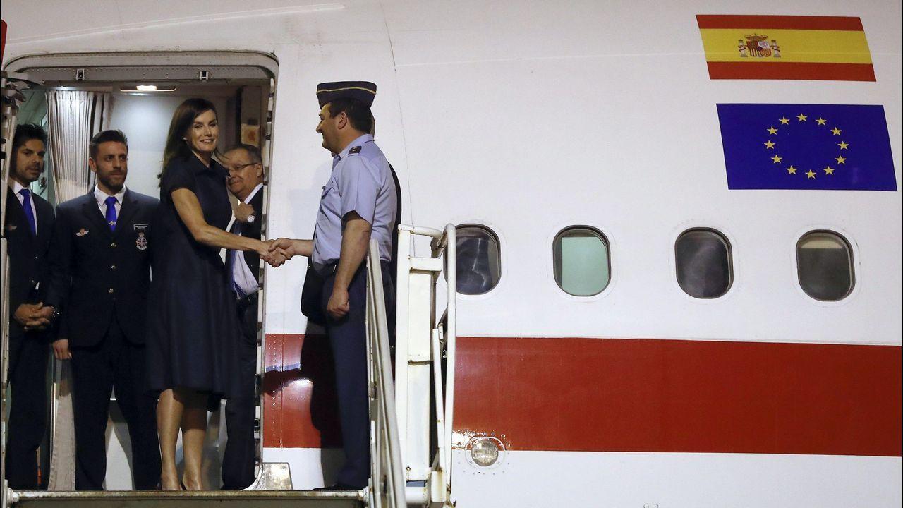 La reina Letizia a su llegada al aeopuerto Internacional de Maputo