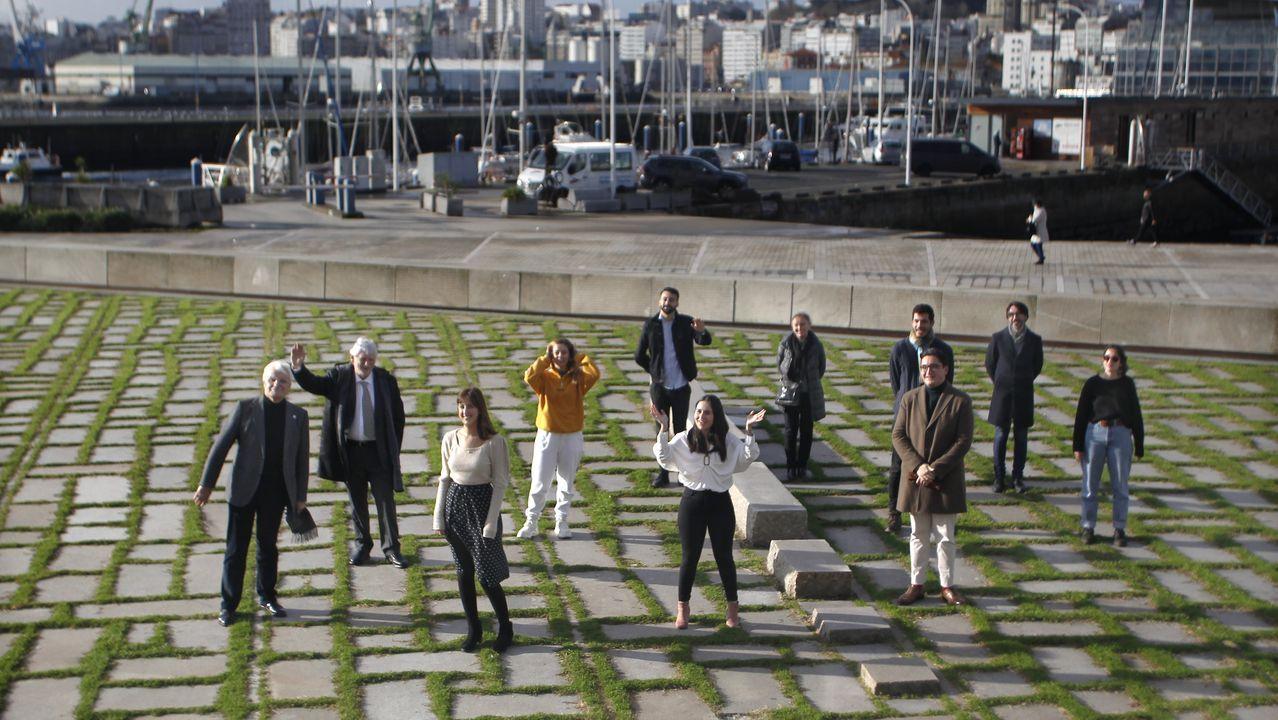 Os impulsores da campaña presentárona onte na Coruña