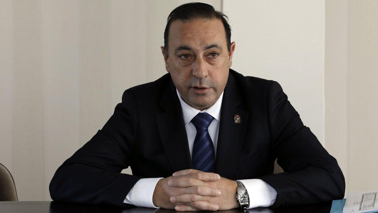 Imagen de archivo de Demetrio Salgueiro, alcalde que revalidó la mayoría absoluta en Xove el año pasado