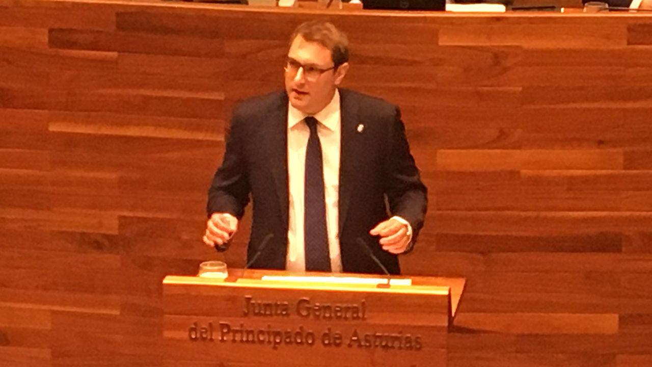 Barbón se proclama nuevo presidente de Asturias.Adrián Pumares, portavoz de Foro en la Junta General