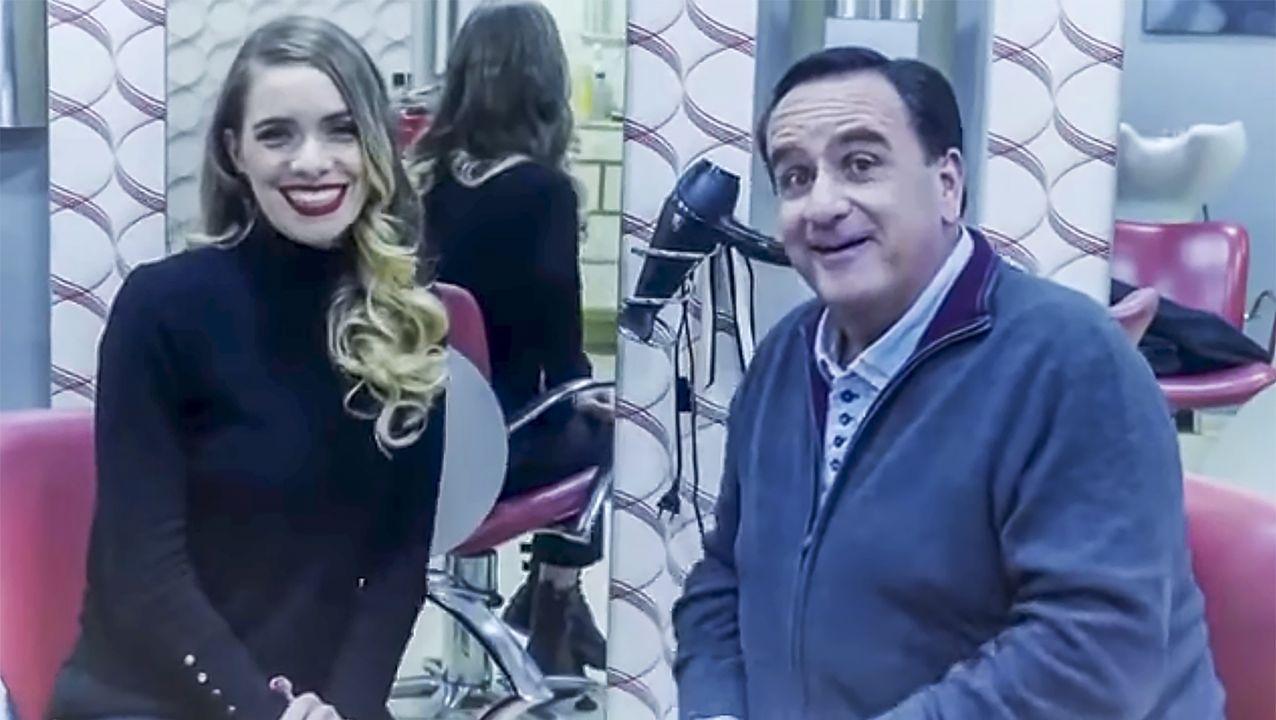 Ana Peleteiro a su llegada al aeropuerto madrileño