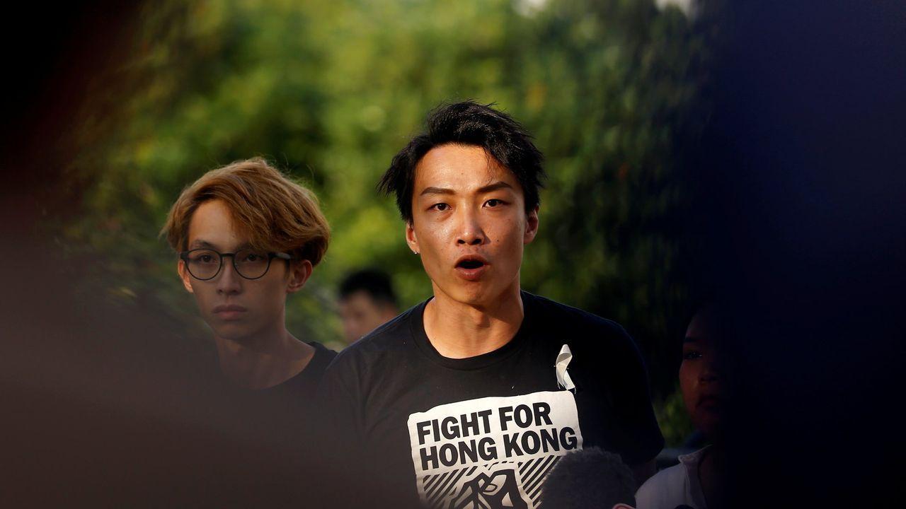 El coordinador del Frente Civil de Derechos Humanos de Hong Kong, Jimmy Sham
