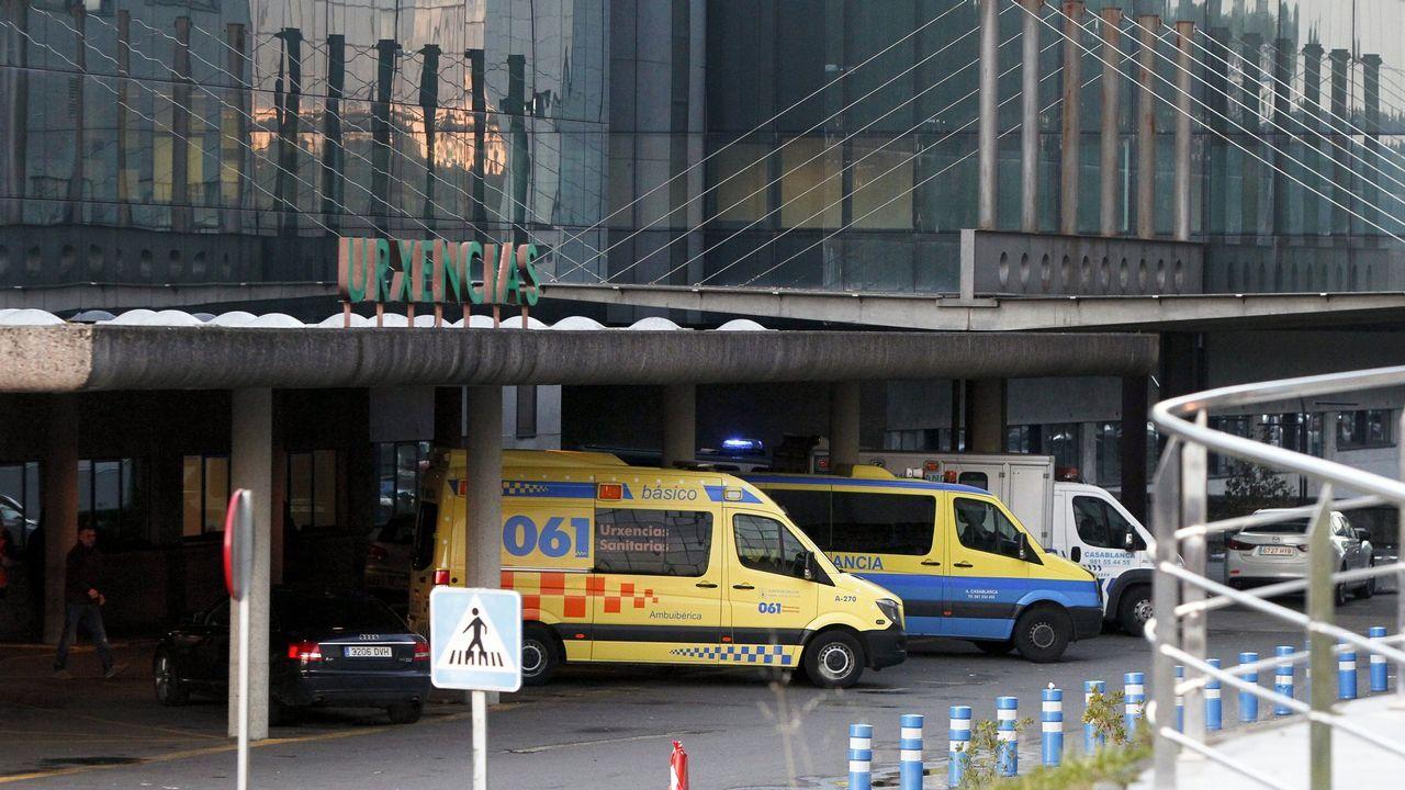 Las imágenes de la entrada de Barbanza en la fase 1 de la desescalada.Hospital Clínico de Santiago