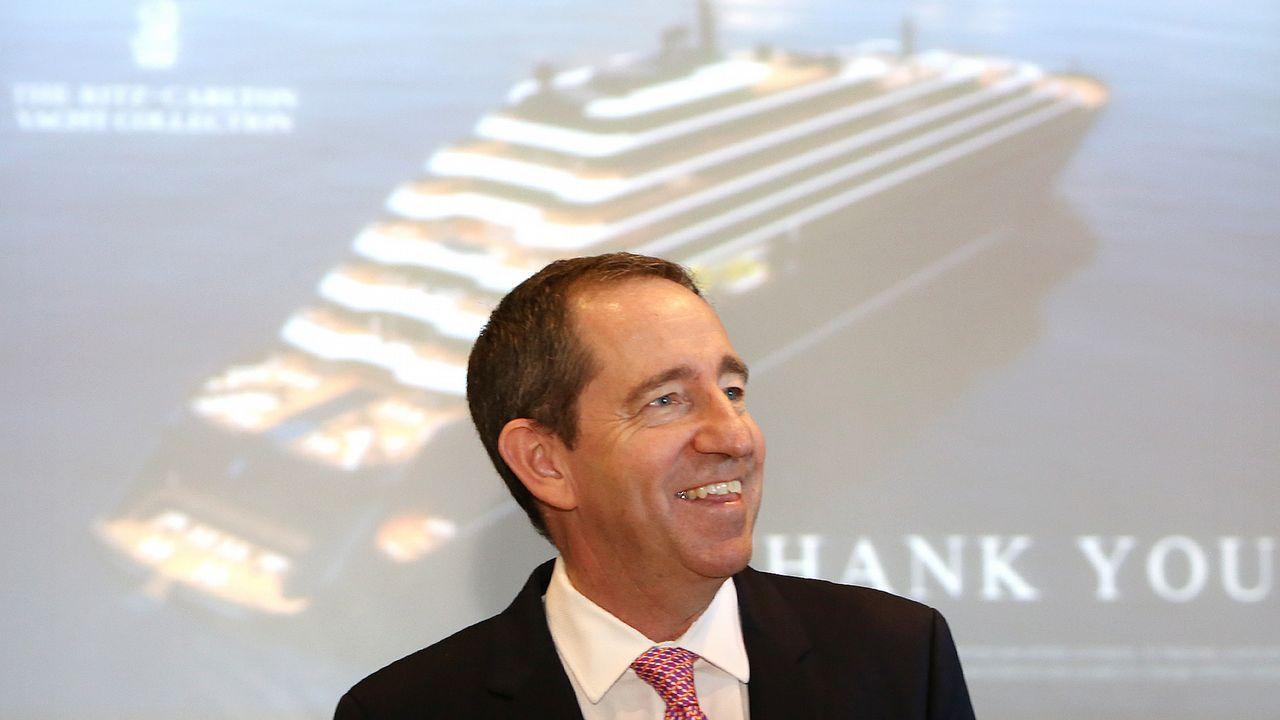 Douglas Phrotero, consejero delegado de The Ritz Carlton, en la Estación Marítima de Vigo, este miércoles