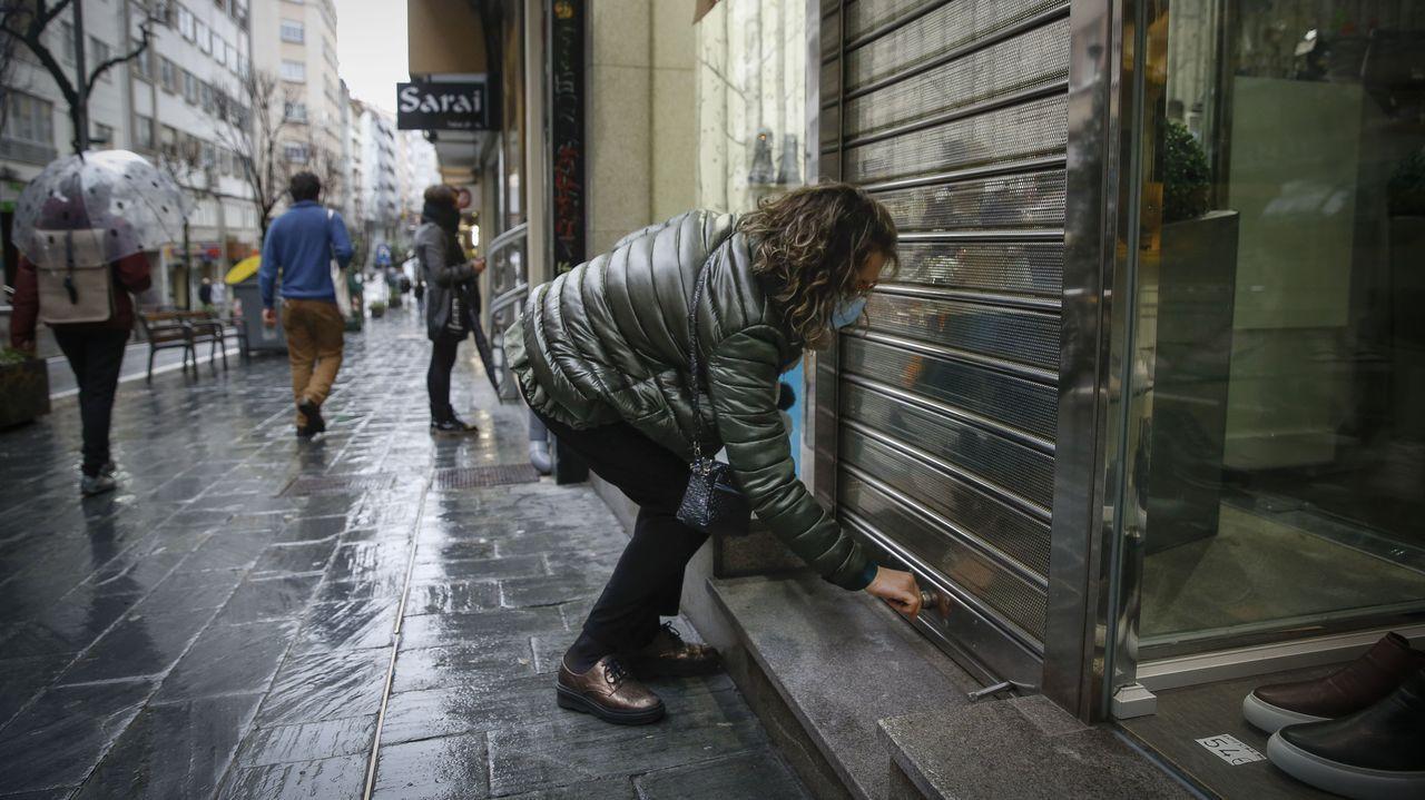 Jornada de protestas de la hostelería gallega.La hostelería asumiría un sistema de rastreo si la Xunta refuerza sus rastreadores