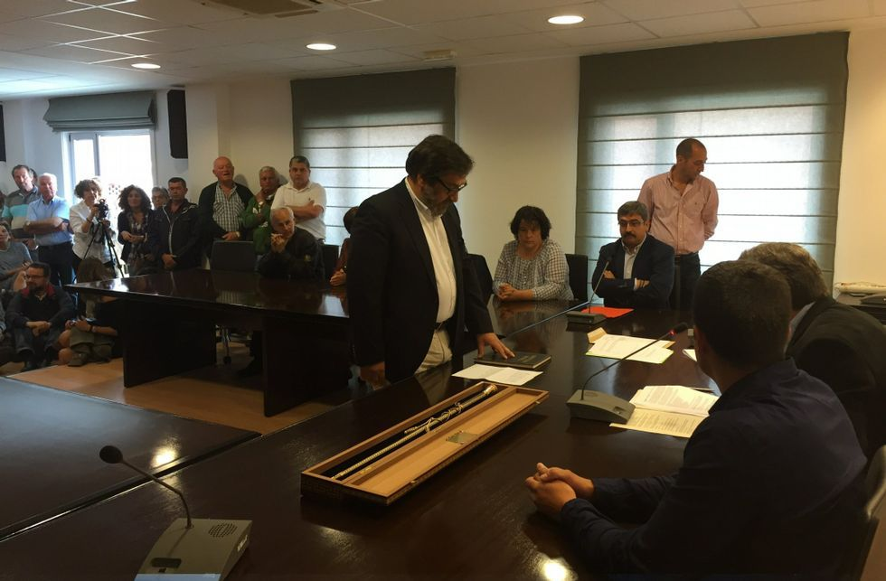 Ricardo Sánchez asumió el pasado mes de junio la alcaldía con el apoyo del Partido Popular.