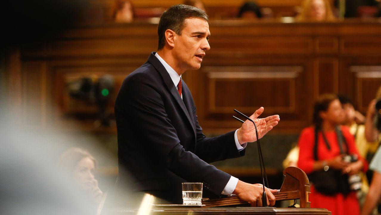 En directo: votación definitiva en el Congreso.Pablo Iglesias sube a la tribuna durante el debate de investidura